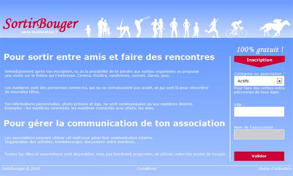 Sortirbouger.com! pour organiser ou se joindre � des sorties sur ta ville !